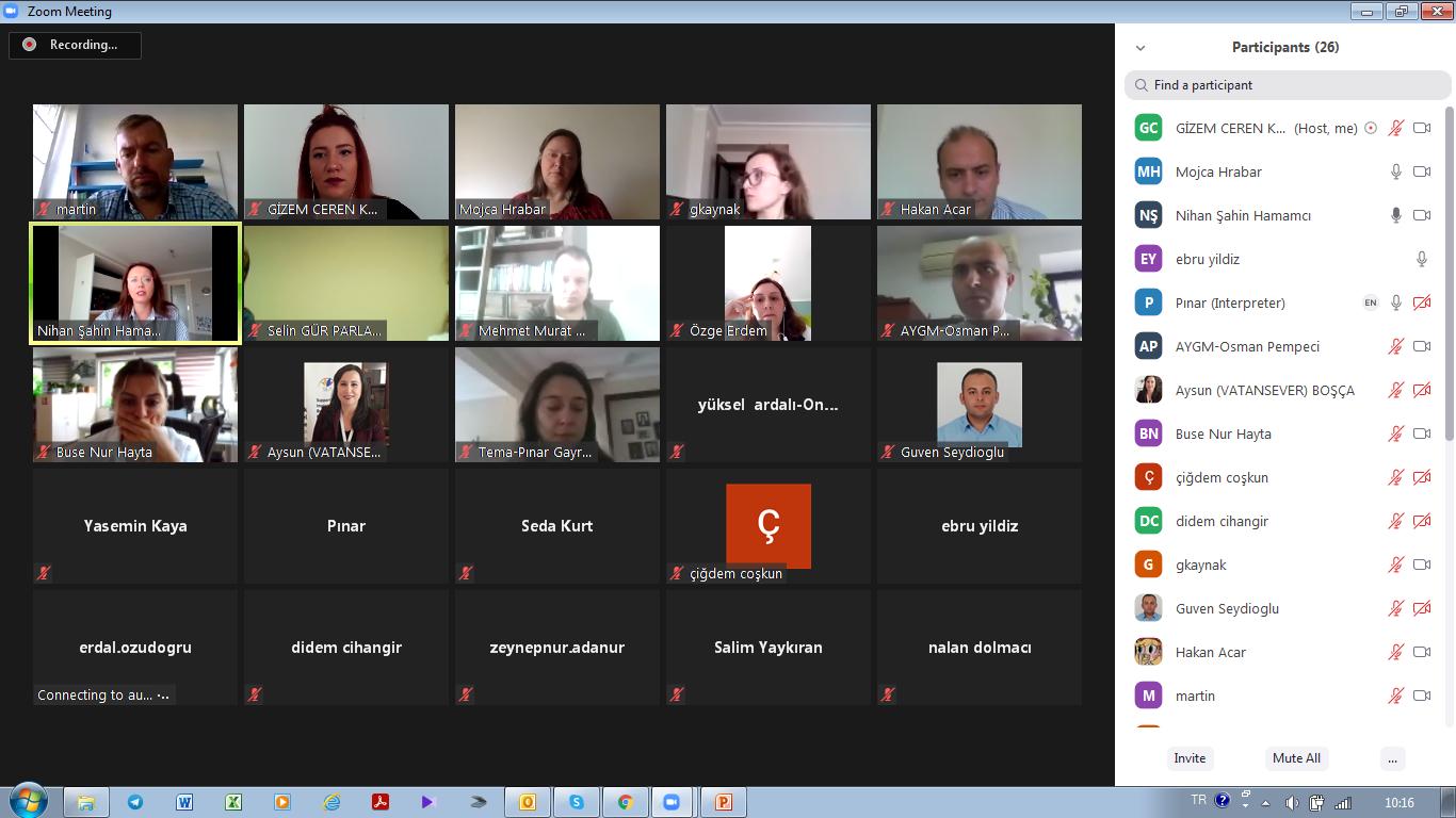SÇD 3.ve 4. Çalıştayları/Eğitimleri Video Konferans Yöntemi ile Gerçekleştirilmiştir.