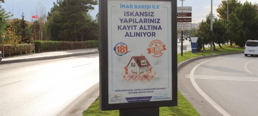 İmar Barışı Kapsamında Afişlerimiz Billboardlarda Yerini Aldı