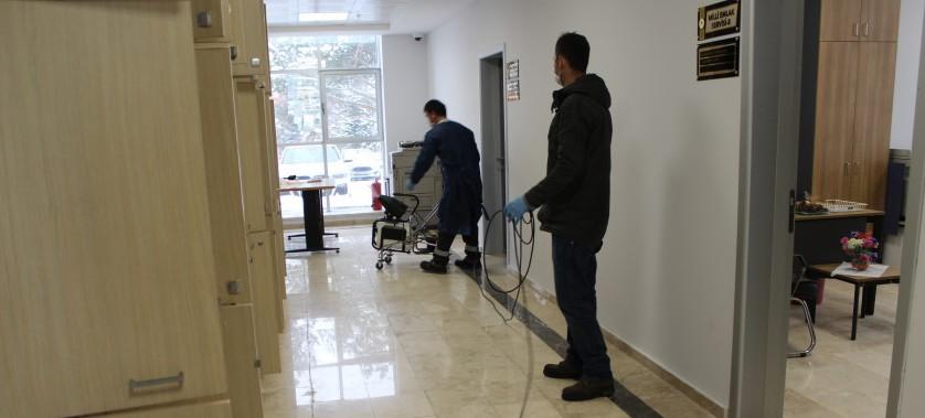 Müdürlüğümüz Hizmet Binası Dezenfekte İşlemi Yapıldı.