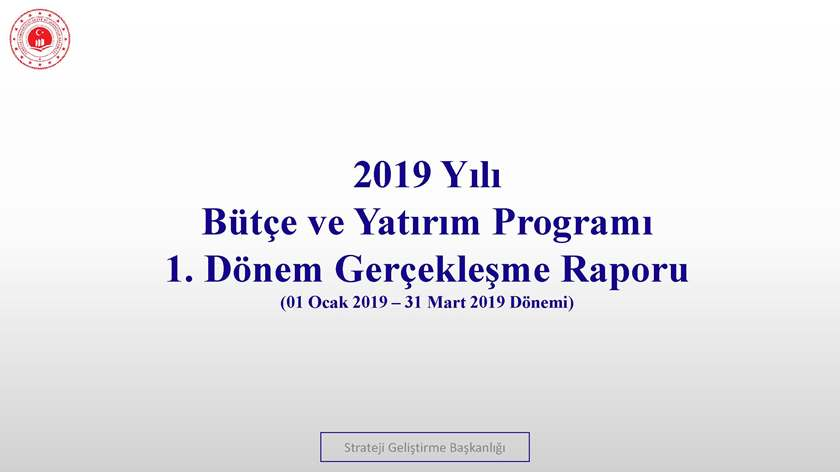 1. Üç Aylık Bütçe Gerçekleşme Raporu (2019)