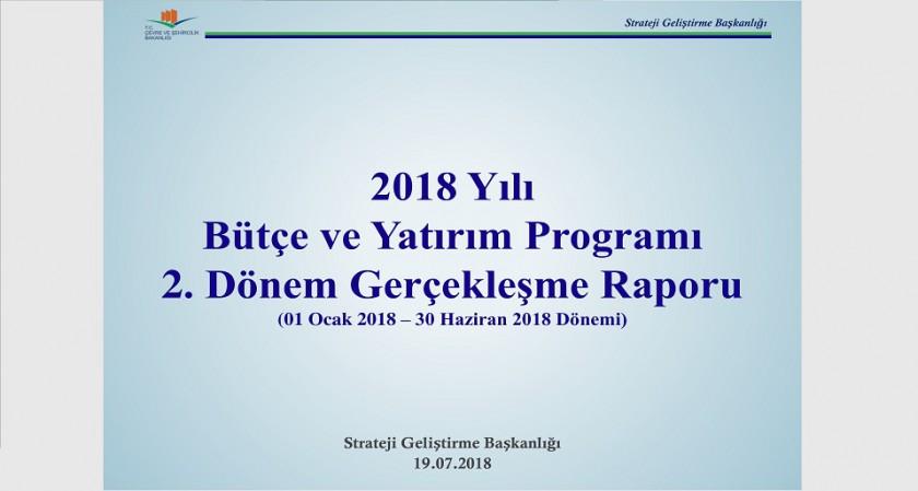 2. Üç Aylık Bütçe Gerçekleşme Raporu (2018)