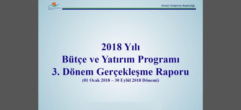 3. Üç Aylık Bütçe Gerçekleşme Raporu (2018)