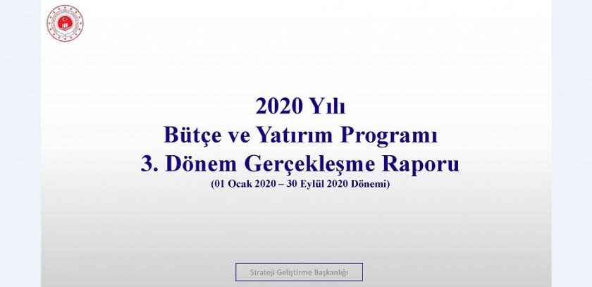 3. Üç Aylık Bütçe Gerçekleşme Raporu (2020)