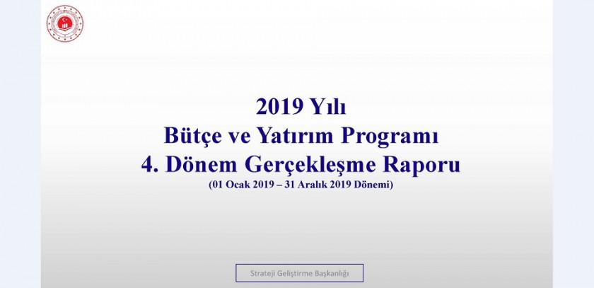 4. Üç Aylık Bütçe Gerçekleşme Raporu (2019)
