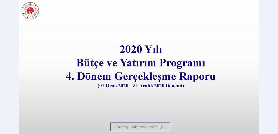 4. Üç Aylık Bütçe Gerçekleşme Raporu (2020)