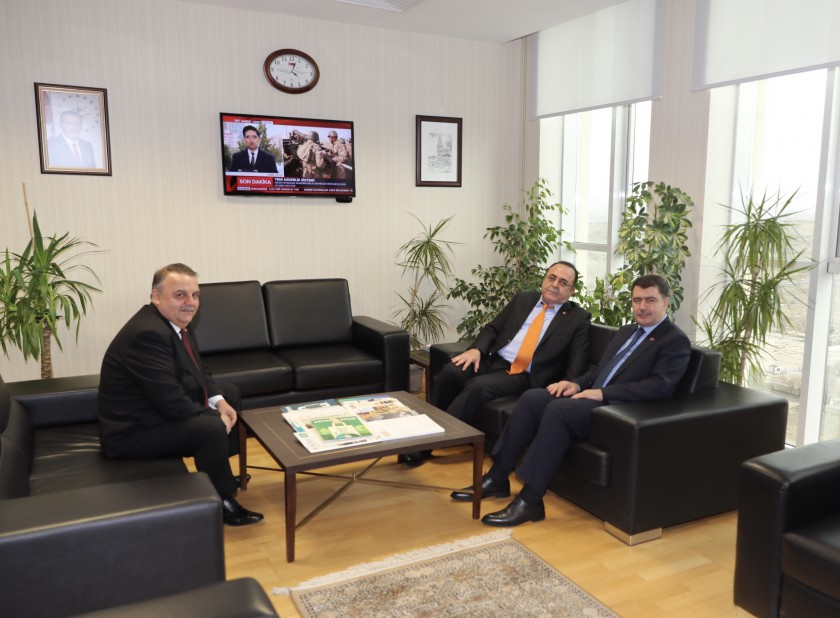 Sayın Ankara Valisi Vasip ŞAHİN, Sayın Başkanımız İhsan YİĞİT'e Çalışma Ziyaretinde Bulunmuştur.