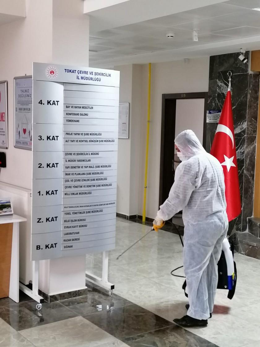 İl Müdürlüğümüz Hizmet Binası Corona (Covid-19) Virüsüne Karşı Dezenfekte Edildi