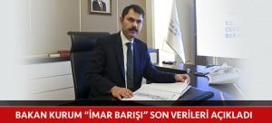"""BAKAN KURUM """"İMAR BARIŞI"""" SON VERİLERİ AÇIKLADI"""
