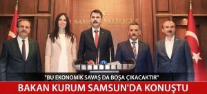 BAKAN KURUM SAMSUN'DA DEVAM EDEN ÇALIŞMALARI DEĞERLENDİRDİ