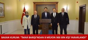 """BAKAN KURUM: """"İMAR BARIŞI'NDAN 8 MİLYON 900 BİN KİŞİ YARARLANDI"""""""