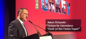 """Bakan Özhaseki: """"Türkiye'de Yatırımların Yüzde 50'den Fazlası İnşaat"""""""