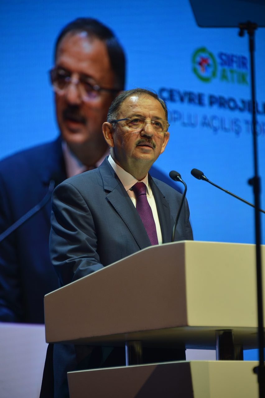 Başbakan Yıldırım ve Bakan Özhaseki 101 Çevre Yatırımını Açtı