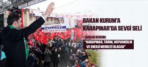 BAKAN KURUM'A KARAPINAR'DA SEVGİ SELİ