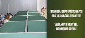 İSTANBUL DEPREMİ SONRASI ALO 181 ÇAĞRILARI ARTTI