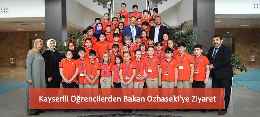Kayserili Öğrencilerden Bakan Özhaseki'ye Ziyaret