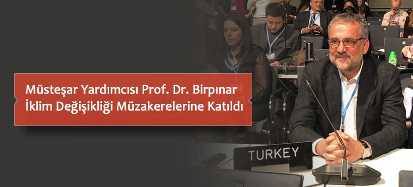 Müsteşar Yardımcısı Prof. Dr. Birnpınar İklim Değişikliği Müzakerelerine Katıldı