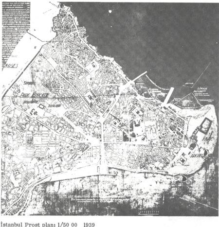 İstanbul Prost Planı 1/50 00 1939