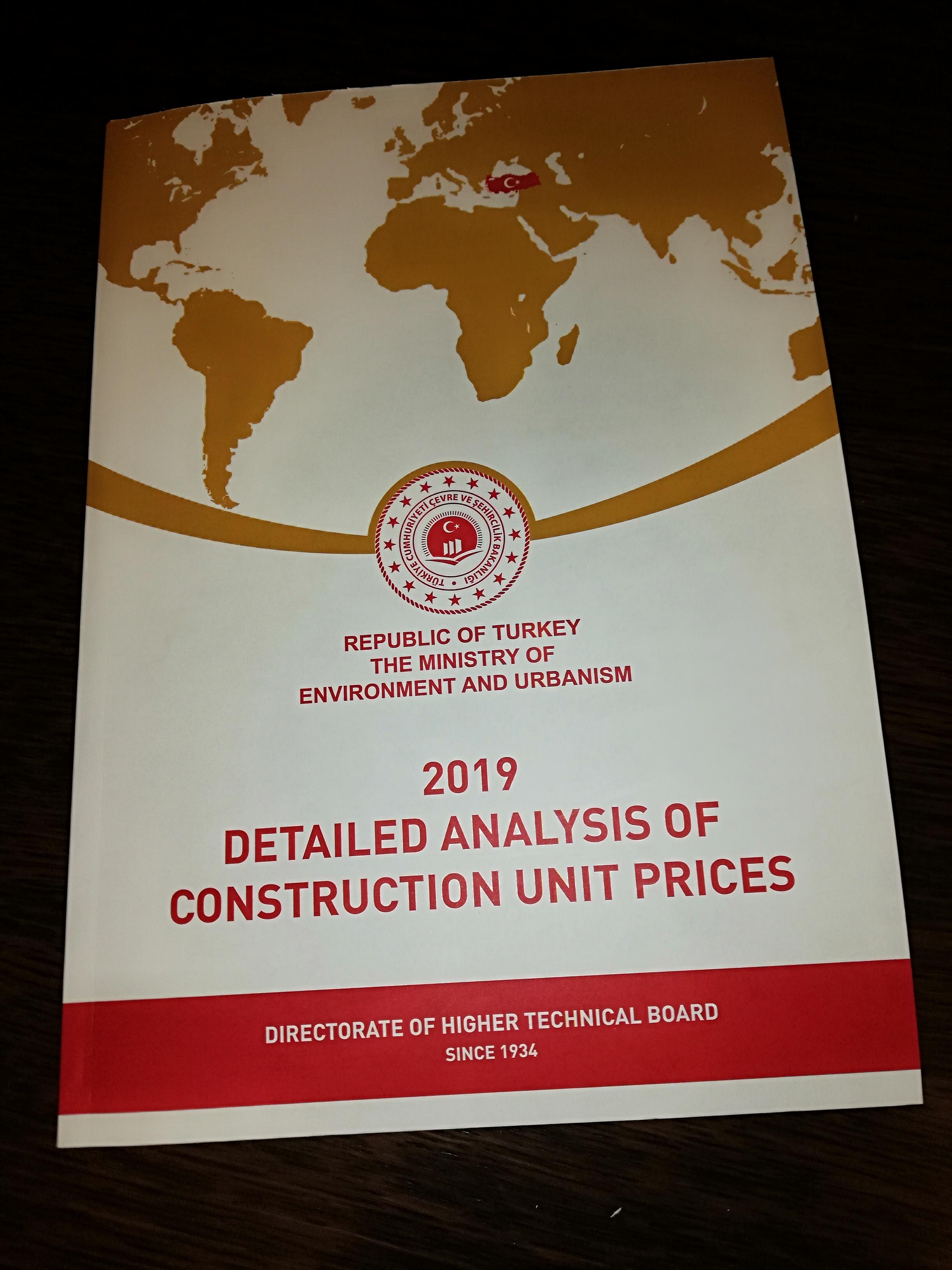 2019 Yılı İnşşat ve Tesisat Birim Fiyatları ile İnşaat Genel Fiyat Analizleri Satışa Sunulmuştur