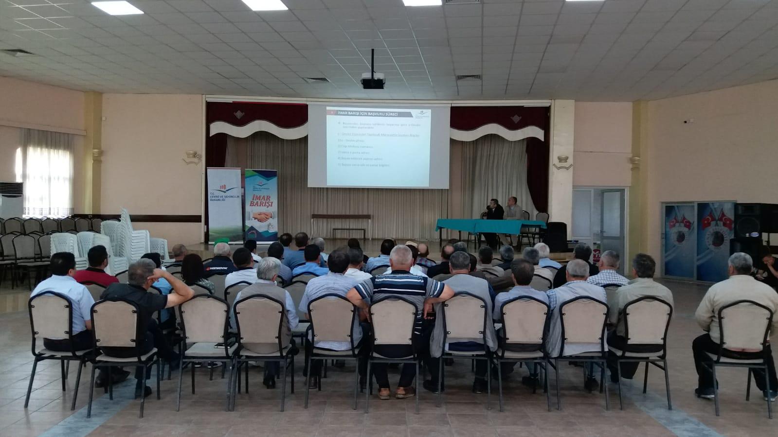 İmar Barışı İle İlgili Bilgilendirme Toplantısı, Banaz İlçemizde, 21 Haziran 2018 Tarihinde Yapıldı.