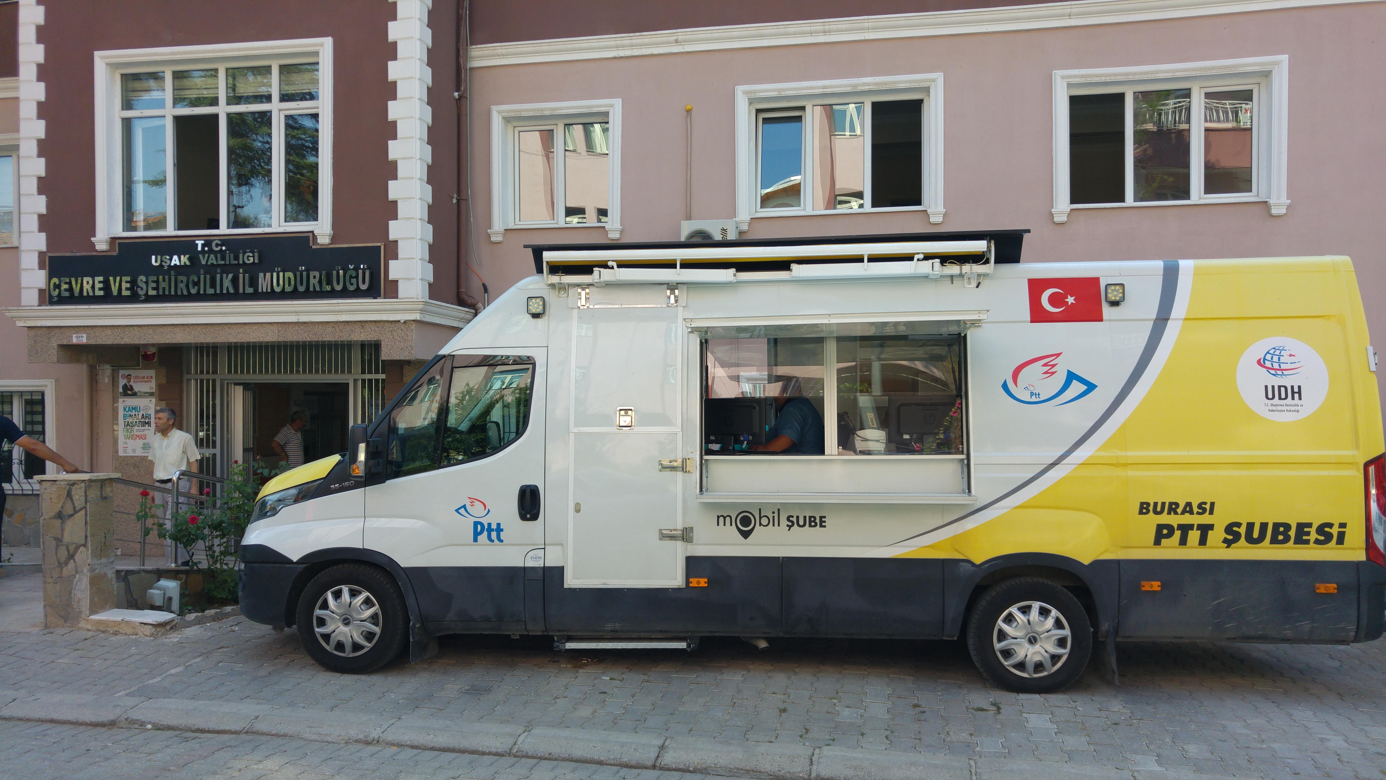 PTT Tarafından, Seyyar Araçla, İl Müdürlüğümüzde, Çarşamba Günleri E-Devlet Şifresi Verilmeye Başlanmıştır.