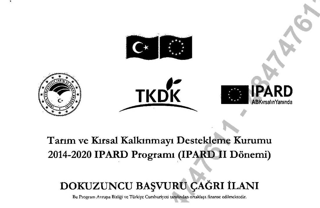 Tarım ve Kırsal Kalkınmayı Destekleme Kurumu'ndan (TKDK) Duyuru