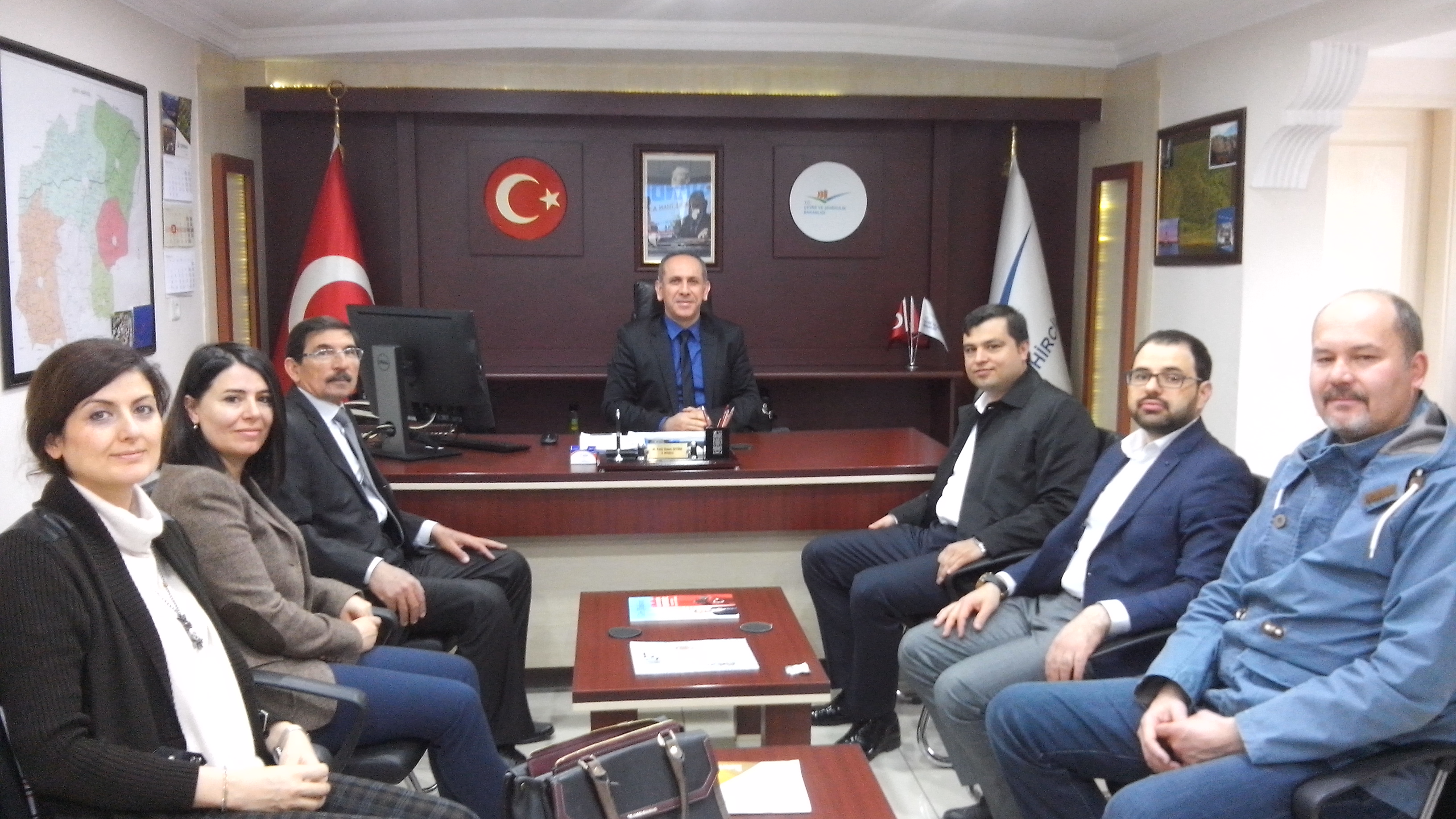 Uşak Ak Parti İl Başkanı Sayın Mehmet ÇAKIN ve İl Yönetim Kurulu Üyeleri İl Müdürlüğümüze Ziyarette Bulundular.