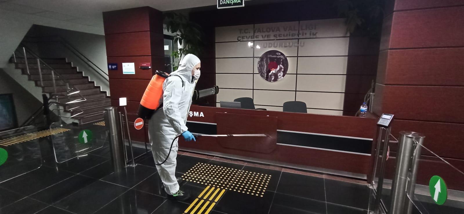Hizmet Binamızda Covid-19 Sebebiyle Dezenfekte ve Hijyen Uygulaması Yapıldı