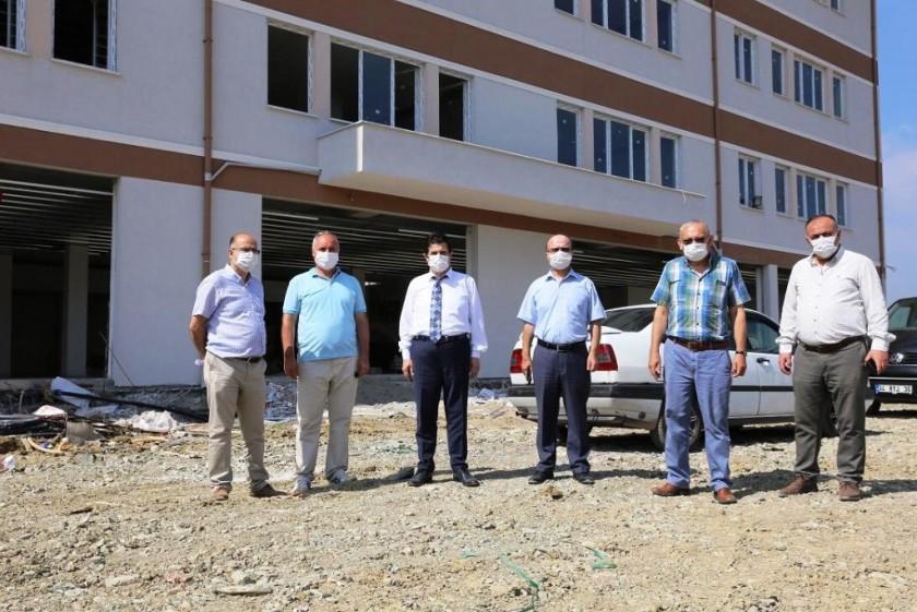 Milli Eğitim Müdürü  Yalova Safran 24 Derslik Lise Binası İnşaatında İncelemelerde Bulundu
