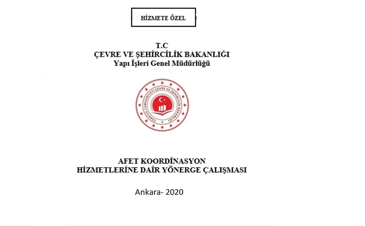 Afet Koordinasyon Hizmetleri Yönergesi Yayınlandı