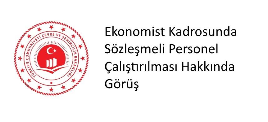 Ekonomist Kadrosunda Sözleşmeli Personel Çalıştırılması Hakkında Görüş
