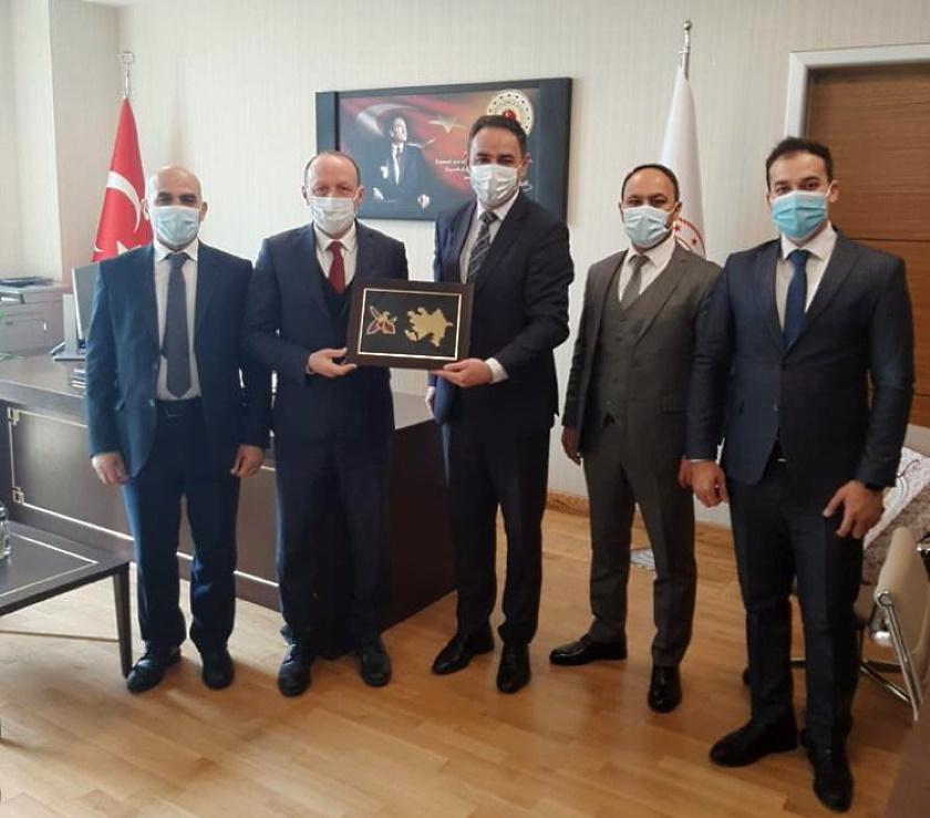 Azerbaycan Cumhuriyeti Heyetinin Yüksek Fen Kurulu Başkanlığına Çalışma Ziyareti