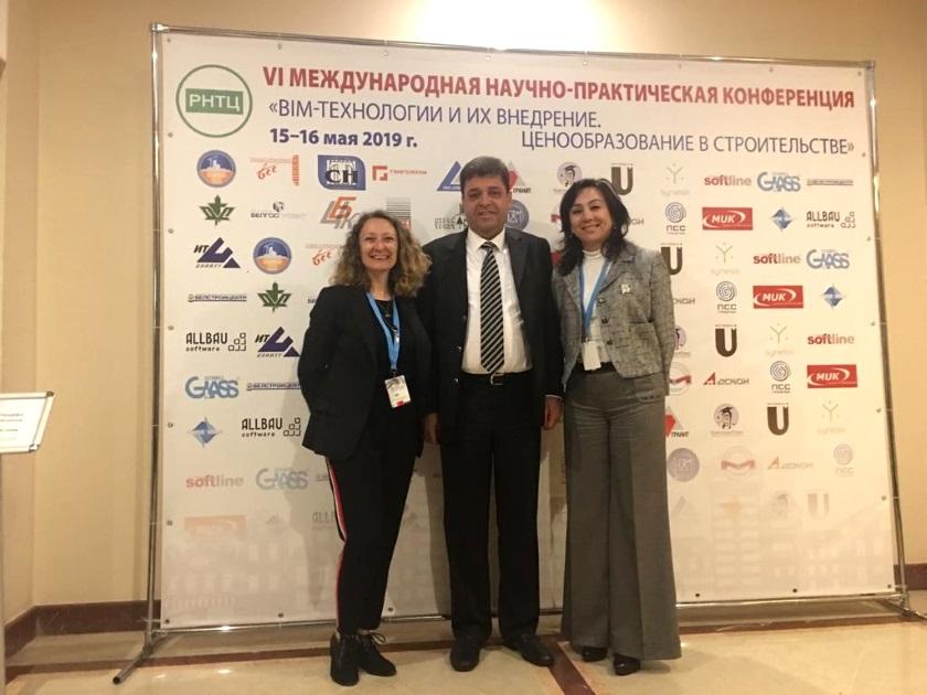 YFK heyeti Belarus'un Minsk Şehrinde düzenlenen BIM Teknolojileri ve İnşaat Birim Fiyatları Üzerine Uygulamalar konulu konferansa katıldı