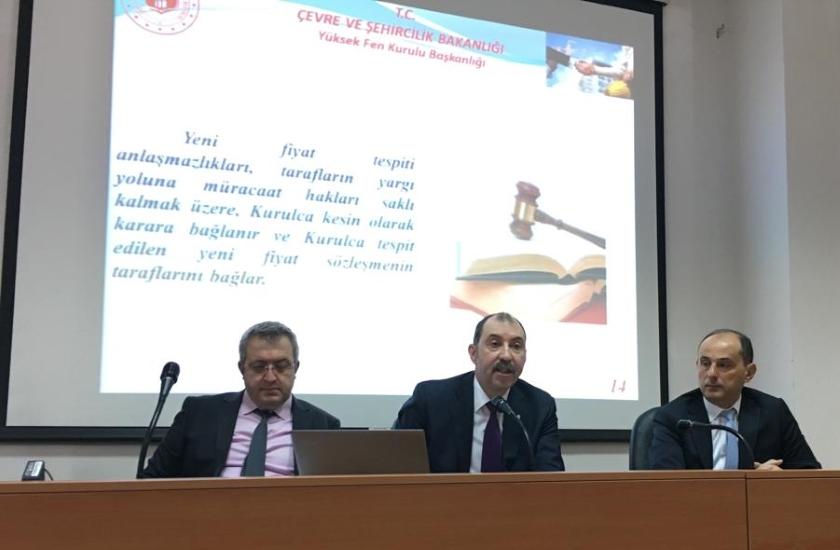 YFK heyetinin Türkiye'deki inşaat ve tesisat rayiç ve birim fiyatları konusunda KKTC Bayındırlık ve Ulaştırma Bakanlığı Çalışma ve İşbirliği Ziyareti