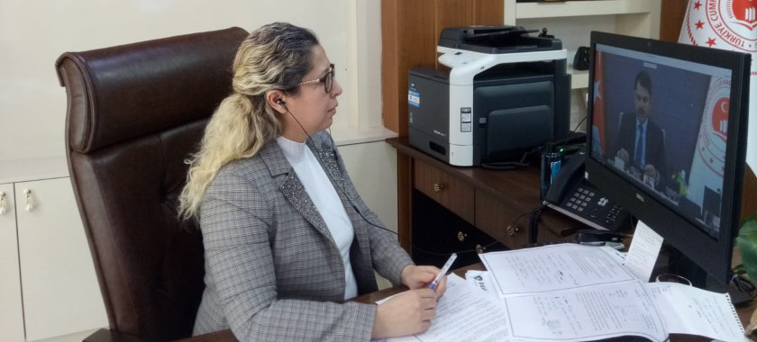 Bakanımız Sayın Murat KURUM video konferans yöntemiyle İl Müdürümüzle görüşme gerçekleştirdi.