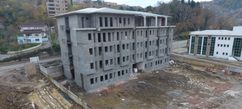 Hizmet binamızın inşaatı devam ediyor
