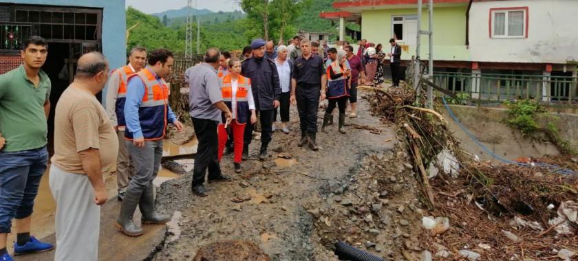 Sarıkadı Köyünde Sel Felaketi