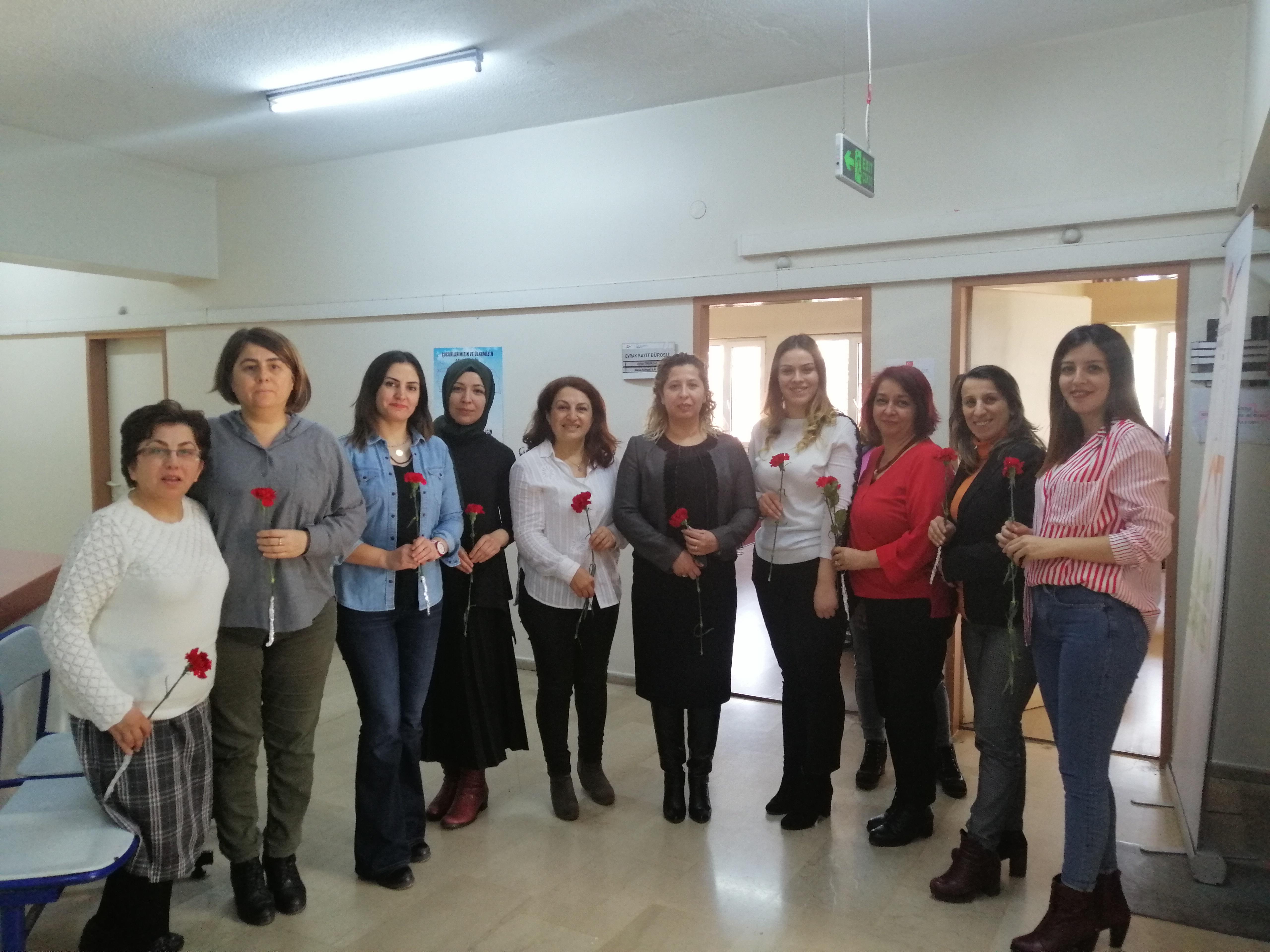 Müdürlüğümüzde 8 Mart Dünya Kadınlar Günü Kutlaması